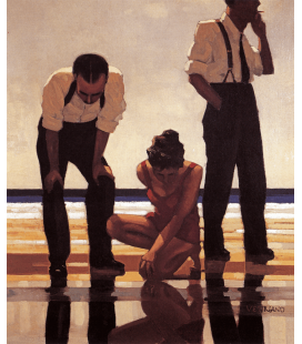 Jack Vettriano - Narcissistic Bathers. Printing on canvas