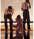 Jack Vettriano - Bagnanti Narcisisti. Stampa su tela