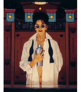 Jack Vettriano - The Cocktail Shaker. Printing on canvas
