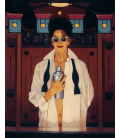 Jack Vettriano - The Cocktail Shaker. Stampa su tela