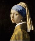 Stampa su tela: Jan Vermeer - La Ragazza con L'orecchino di Perla