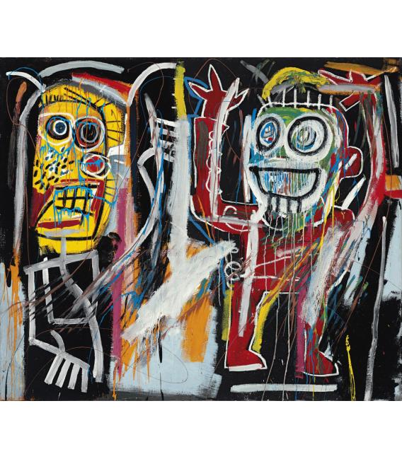 Stampa su tela: Jean Michel Basquiat - Dustheads