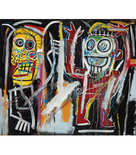 Jean-Michel Basquiat - Dustheads. Printing on canvas