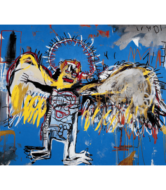 Stampa su tela: Jean Michel Basquiat - Fallen angel