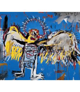 Jean Michel Basquiat - Angelo che Cade. Stampa su tela
