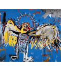 Jean-Michel Basquiat - Fallen angel. Printing on canvas
