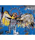 Jean-Michel Basquiat - Fallen angel. Printing on canvas