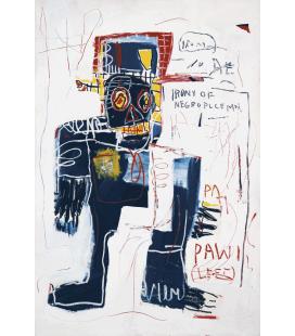 Jean Michel Basquiat - Ironia di un poliziotto negro. Stampa su tela