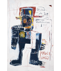 Jean-Michel Basquiat - The irony of a black cop. Printing on canvas