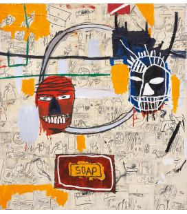 Jean-Michel Basquiat - Kunst. Printing on canvas