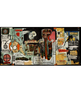 Jean-Michel Basquiat - Notary. Printing on canvas