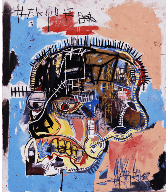 Printing on canvas: Jean-Michel Basquiat - Untitled head