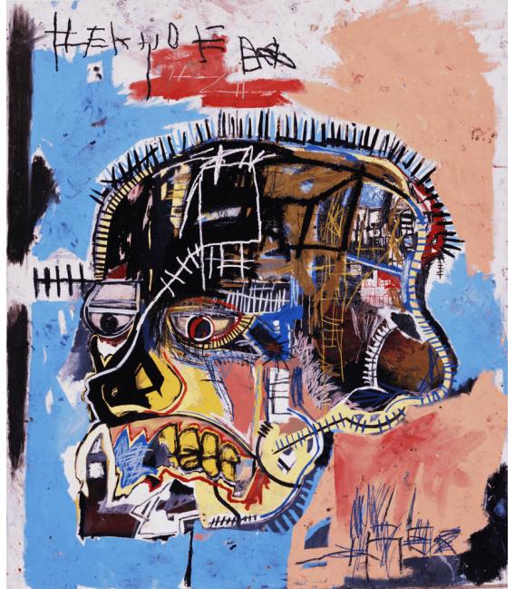 Stampa su tela: Jean Michel Basquiat - Untitled head