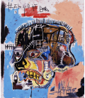 Jean-Michel Basquiat - Untitled head. Printing on canvas
