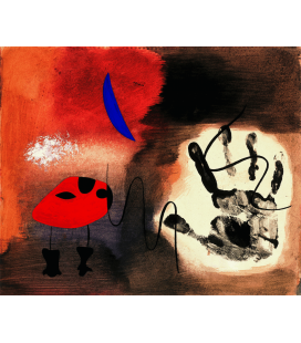 Joan Miro - Apparitions Gouache. Printing on canvas