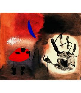 Joan Mirò - Apparizioni guazze. Stampa su tela