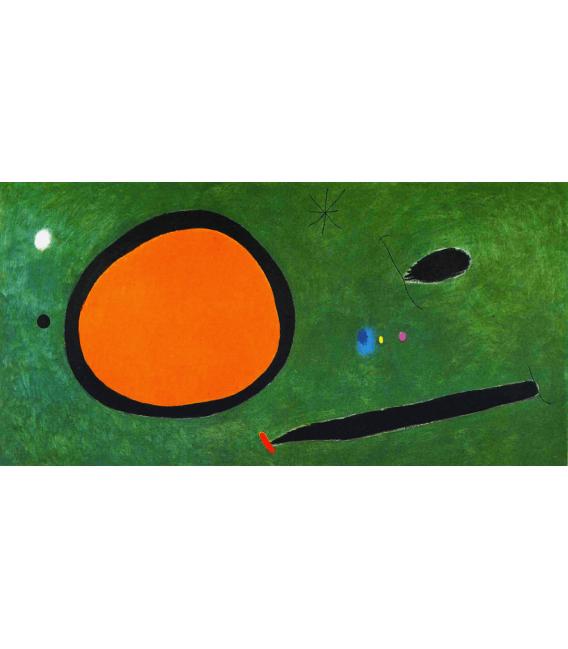 Stampa su tela: Joan Mirò - Bird Flight In Moonlight