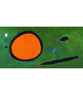 Stampa su tela: Joan Mirò - Bird Flight In Moonlight