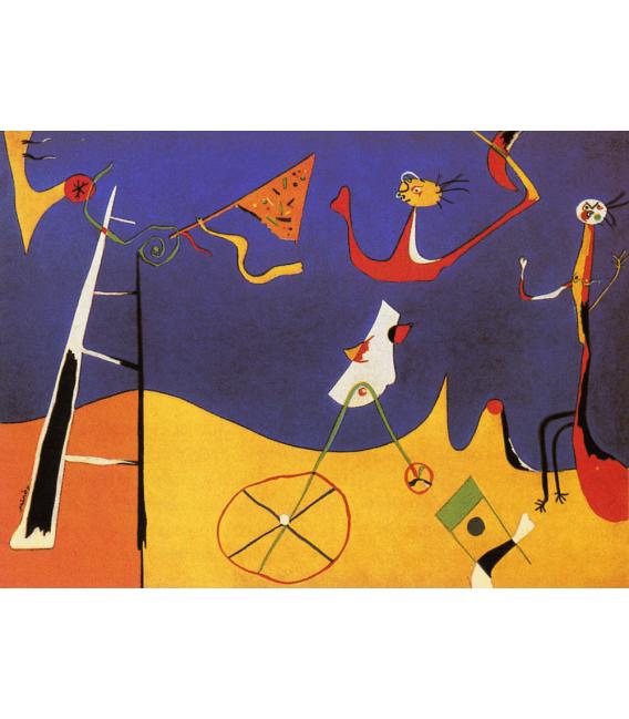 Printing on canvas: Joan Miro - Circus