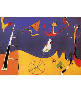 Joan Mirò - Circo. Stampa su tela