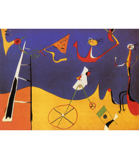 Joan Miro - Circus. Printing on canvas