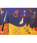 Joan Miro - Circus. Printing on canvas
