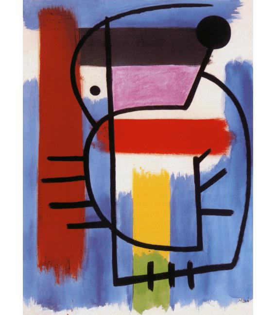Printing on canvas: Joan Miro - Woman Sitting