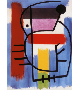 Printing on canvas: Joan Miro - Woman Sitting