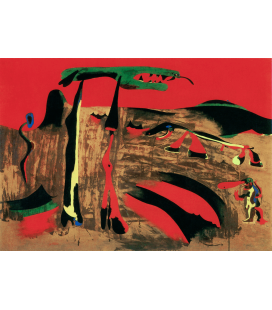 Printing on canvas: Joan Miro - Figures in front of nature