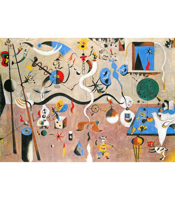 Stampa su tela: Joan Mirò - Il Carnevale di Alrlecchino