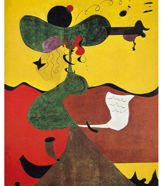 Stampa su tela: Joan Mirò - Portrait Of Mrs Mills In 1750 (After Constable)