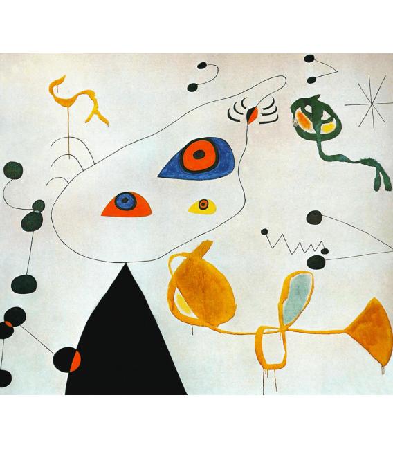 Printing on canvas: Joan Miro - Woman And Bird In The Night