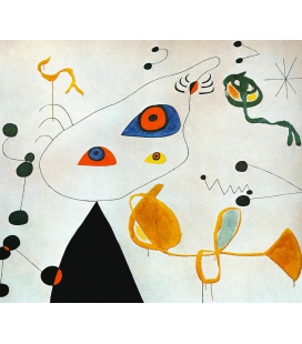 Printing on canvas: Joan Miro - Woman And Bird In The Night