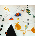 Stampa su tela: Joan Mirò - Woman And Bird In The Night