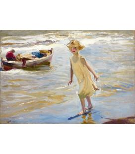 Printing on canvas: Joaquín Sorolla y Bastida - Little girl on the beach