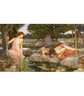 Printing on canvas: John William Waterhouse - Echo and Narcissus