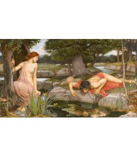 Stampa su tela: John William Waterhouse - Echo and Narcissus