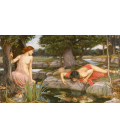 John William Waterhouse - Echo and Narcissus. Printing on canvas