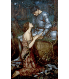 Stampa su tela: John William Waterhouse - Lamia