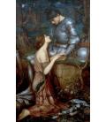 Stampa su tela: John William Waterhouse - Lamia
