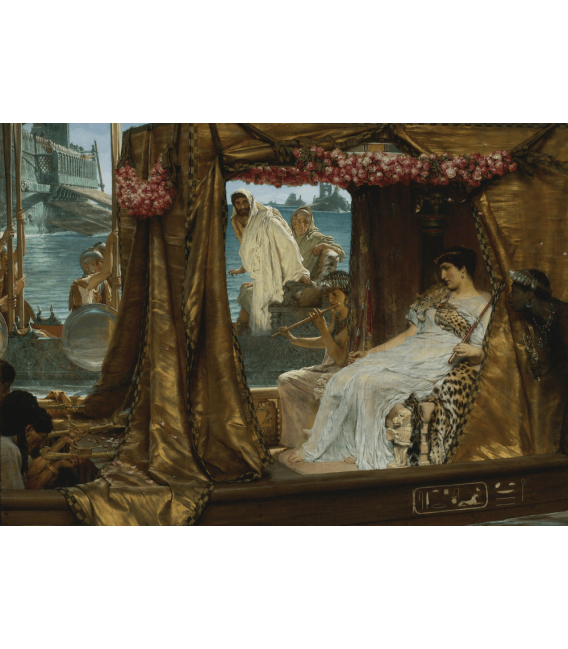 Stampa su tela: Lawrence Alma-Tadema - Antonio e Cleopatra