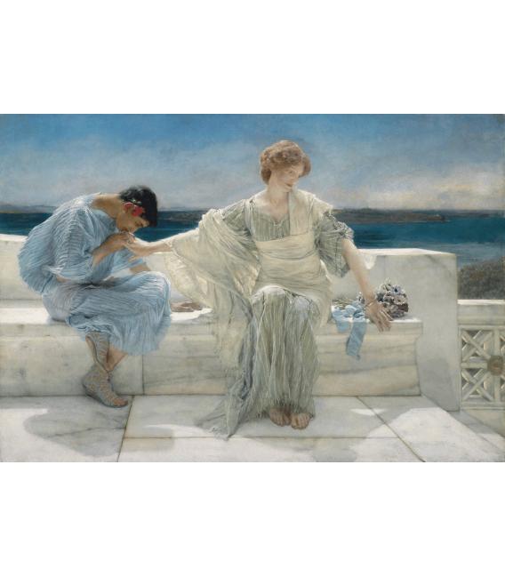 Printing on canvas: Lawrence Alma-Tadema - Ask Me No More