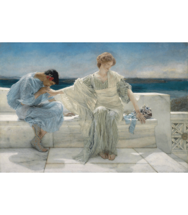 Stampa su tela: Lawrence Alma-Tadema - Ask Me No More