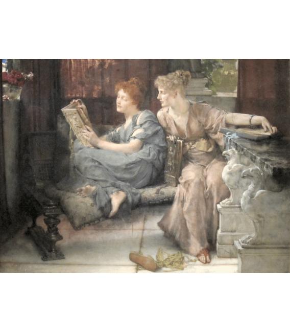 Stampa su tela: Lawrence Alma-Tadema - Comparison
