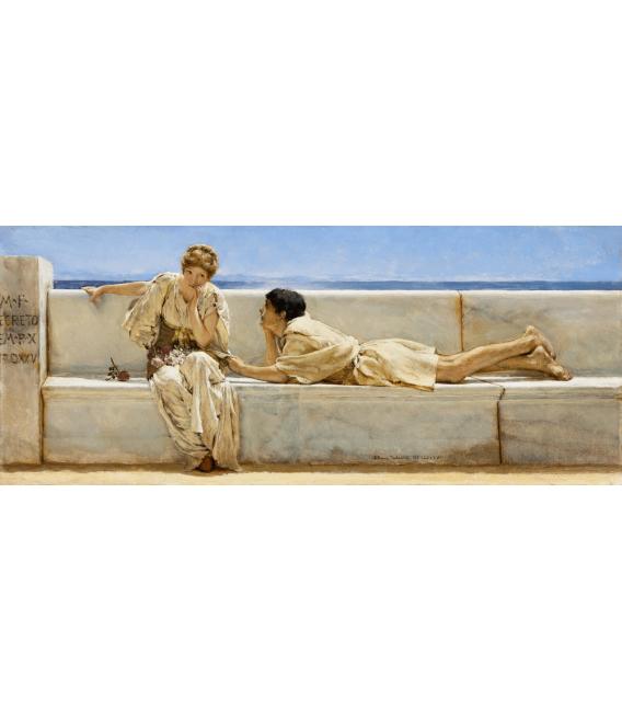 Stampa su tela: Lawrence Alma-Tadema - Domanda
