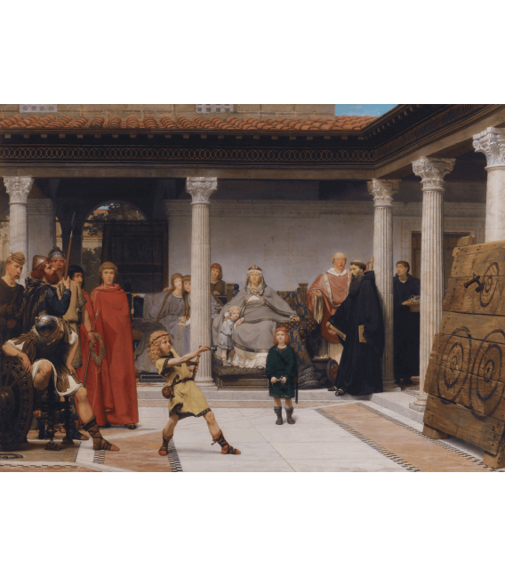 Printing on canvas: Lawrence Alma-Tadema - Education of the Children of Clovis