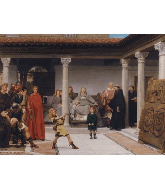 Stampa su tela: Lawrence Alma-Tadema - Educazione dei bambini di Clovis