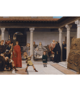Lawrence Alma-Tadema - Education of the Children of Clovis. Printing on canvas