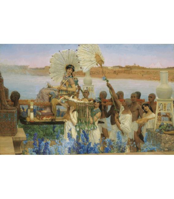 Stampa su tela: Lawrence Alma-Tadema - Il ritrovamento di Mosè