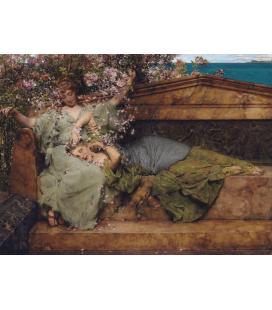 Lawrence Alma-Tadema - In un giardino di rose. Stampa su tela